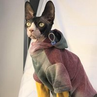 Cat Costumes Pet Sweatshirt Puppy Autumn And Winter Padded Warm Thick Casual Clothes British Shorthair Fashion Tie Dye Hoodie