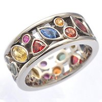 Wedding Rings Colorful Women Hollow Out Geometric Stone Cocktail Party Female Finger Ring Fancy Stylish Jewelry Wholesale