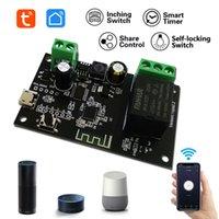 Tuya Smart Switch Module 12V Smart Life App Fjärrkontroll DIY Timer WiFi Relä Inching Självlåsande Support Alexa Google Hem