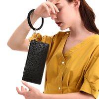 Tissu de haute qualité Bracelet en cuir PU en relief bracelet voiture poigne porte-poigles portables