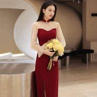 Cheongsam Toast Bride 2021 Summer Wedding Back Door Engagement Dr Can Wear Long Sleev at Ordinary Tim
