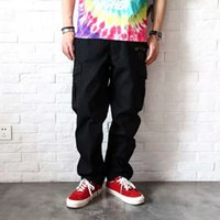 Fashion outlet Correct version 2020 new 6-bag casual overalls men's straight tube loose drawstring Leggings