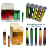 vidge bar max mini 2 in 1 일회용 vape 전자 담배 2000 퍼프 장치 950mAh 3 + 3ml 포드 11 색 빠른 배