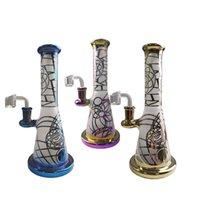 9 polegadas mini narguillahs arco-íris colorido aparelhos de óleo chuveiro perc perc percolador bongs 14mm tubos de água articular com quartzo banger
