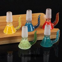 Colorful Handmade Ox Horn Smoking 14MM 18MM Male Adapter Connector Interface Pyrex Glass Bowl Container Tobacco Vessel Holder Bong Hookah Tool DHL Free