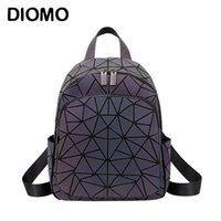 Porte-sacs à dos Diomo pour les femmes Preppy Style Petite DayPack Mode Géométrique Reflective Back Pack Filles 210911