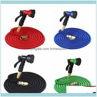 Equipments Supplies Patio, Lawn Home & Garden25Ft Retractable Natural Latex Expandable Garden Watering Washing Car Fast Connector Hose With