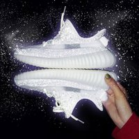 Scarpe da corsa Kanye Ash Blue Zebra Cinder Perle Light Light 3M Reflective Israfil Asriel Lino Trainer Mens Donne Top Quality with Box Dimensione US12 US13 US13