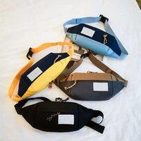 2021 뜨거운 고전 가슴 가방 고품질 수제 패션 남자 슬링 가방 크로스 바디 메신저 가방 4 색 야외 여성 허리 가방 팩 TB551