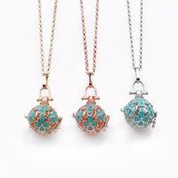 Vier Blatt Klee Aromatherapie Halsketten Ätherisches Öl Diffusor Medailat Halskette Modeschmuck Geschenk