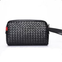 Handbag Of Cowhide Casual Version Men's The Bag Men's Clutch Folder Bag Woven Clutch New Leather Trendy Korean Toiletry Bag Oifki lianquan0
