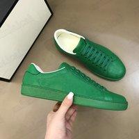 2021SS ACE Geprägte Leder Herren Sneaker mit Verriegelung Logo Schuhe Luxurys Designer Italien Marke Trainer Weiße Turnschuhe Stickerei Streifen Freizeitschuh für Männer