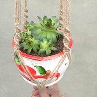 Pflanzbügel Macrame Seiltöpfe Halter Seil Wandbehang Pflanzgefäß Hängende Korb Pflanze Inhaber Indoor Blumentopf Korb Heben GGA4980