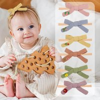 Girls Hair Accessories Baby Headbands Embroidery Flower Nylon Children Kids Bowknot Bow Hairbands Infant Head Bands B6267
