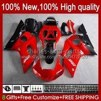 Bodys för Yamaha YZF-600 YZF R6 R 6 600CC YZFR6 1998 1999 00 01 02 Kroppsarbeten 1No.18 YZF 600 CC Cowling YZF-R6 98-02 YZF600 98 99 2000 2001 2002 ABS Fairing Kit Red Black Blk