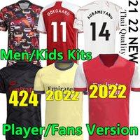 21 22 fan giocatore Versione Arsen Humanrace Soccer Jerseys Thomas Pepe Gabriel Willian Saka 2021 2022 Gunners Men Women Kit Kit Kit Camicia da calcio