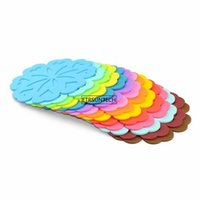 Mats & Pads 50pcs Round Heat Resistant Silicone Mat Drink Cup Coasters Non-slip Pot Holder Table Placemat Kitchen Accessories