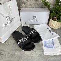[С коробкой] Высокое качество Парижские моды тапочки мужские женские флип флоп Летние резиновые сандалии пляж слайд Scuffsindoor размер EUR36-46