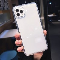 Transparent Phone Cases TPU Protective Shockproof Clear Case Anti-knock Cover for iPhone 7 8PLUS XR X MAX 11 PRO