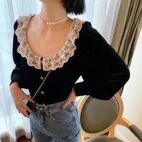 Donne Collana Pendenti Pendenti Lettera di Perle Lettera di modo Gioielli di moda perline perline collane di alta qualità Bianco Semplice giorno di San Valentino