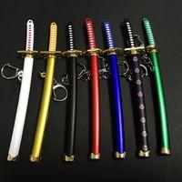 특별한 Roronoa Zoro Sword Keychain 여성 남성 버클 툴 홀더 Scabbard Katana Saber 자동차 키 체인 선물 키 Q-053