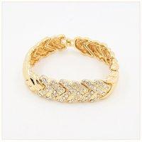 Liffly Bridal Dubai Jóias De Ouro Conjuntos de Colar De Cristal Pulseira Nigeriana Party Party Fashion Jewelry Set 1025 T2