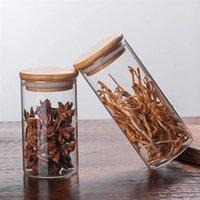 Бутылки для хранения JARS Хозяйственная банка для печенья Кухня Запечатанная канистра Candy для специй Стеклянная прозрачная контейнер