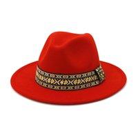 남성 여성 와이드 브림 양모 Fedora 화이트 파나마 모자 솜브레로 재즈 Trilby Cap 영국 스타일 Porkpie 모자