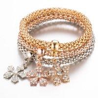 Charm Bracelets Braclet Flower Bracelet Female Femme Gold Silver Male Bangles For Couples Women Men Multilayer Charms