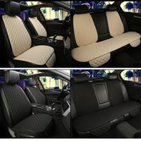 Car Seat Covers Universal Flax Cover Automobile Linen Backrest Cushion Pad Mat For Auto Front Rear Protector