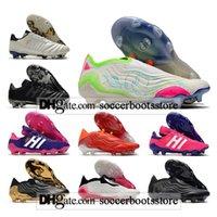 Hediye Çantası Çocuklar Yüksek Ayak Bileği Futbol Çizmeler COPA 20 MUNDIAL 21 FG Firma Zemin Cleats Erkek Sense + 70Y Açık Sense.1 AG Erkekler Futbol Ayakkabı