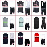 Équipe Rapha Hommes Jersey à vélo respirant Suit Sans manches Vêtements de vélo Vêtements de vélo Summer Racing Jersey Jersey Shorts Set Y21040809