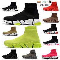 [Con scatola] 2021 Designer Sock Sock Sports Scarpe da uomo Speed 2.0 Trainer Donne di lusso Donne da uomo Runners Trainer Sneakers Sunks Boots Platform Size Y8DG #