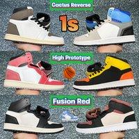2021 Neueste Kaktus Reverse 1 1S Männer Baskeeball Schuhe UNC Top 3 Fusion Red High Prototyp Rust Shadow Trophy Room Chicago Frauen Designer Sneakers