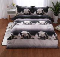3D Dog 3 pcs Bedding Set Duvet Cover Duvet Quilt Cover Pillowcases Bed Sheet King Queen (No Sheet No Filling)