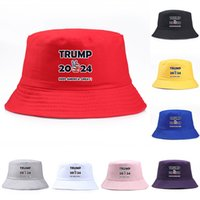 Fashion Trump 2024 printing Bucket Cap Keep America Great Hat Cotton Sport Fisherman Cap Newest Travel Camping Sun Hat