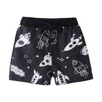Pantalones cortos FunnyGame Boys Clearloth Beechcloth Baby Summer Ropa Pantalones Escantajes Outwear Dibujos animados Rockets impresos