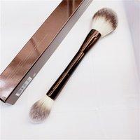 Kum saati peçe tozu makyaj fırçası - çift uçlu toz fosforlu ayarı kozmetik makyaj fırça ultra yumuşak sentetik saç 210331