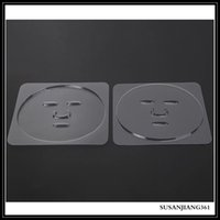 STOCK Facial Mask Plate For Fruit Vegetable Masks Machine Maker Clear Silicone Mask Mould Tray Mask Making DIY Tool