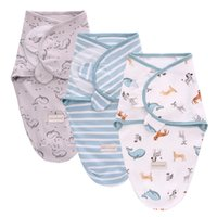 طفل الفتيان الفتيات بطانية التفاف القطن لينة الطفل قماط كيس النوم لمدة 0-6 أشهر حديثي الولادة الطفل الفراش الرضع تلقي بطانية 1231 Y2