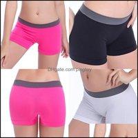 Outfits exercício desgaste atlético ao ar livre vestuário outdoorswomen fitness esportes esportes ginásio workout skinny respirável yoga shorts drop deliv