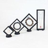 PE-Film-Federbox Ring Nagelohrring Anhänger Halskette Jade Schmuck Display Lagerung Verpackung