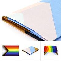 Atacado 90 * 150 cm triângulo arco-íris bandeiras bandeira poliéster metal ilhas lgbt gay arco-íris progresso orgulho bandeira decoração DBC BH4589 634 R2