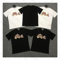 2021 Mode d'été Mens hommes Designers T-shirts pour hommes S Palms Tops Luxurys Lettre Broderie T-shirts Vêtements Courts Angels à manches Tshirt Tshirt
