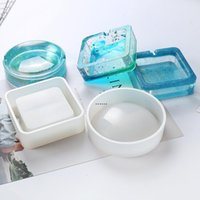 Ashtray Silicone Mold Epoxy Resin Round Square Molds DIY Craft Making Supplies Handmade Ashtray Craft NHB6696