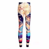 Leggings da donna Stili estivi Plus Size Arrivo Donne Progettato Digital Stampato Digital Supernova Vendita Milk Vintage Egitto Pharaone