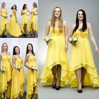 Robe de demoiselle d'honneur A Line Robe de mousseline à plusieurs niveaux 2021 Spaghetti Sweetheart High Bride Bride Fête Robes à glissière Back Vestidos