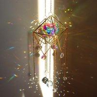 Obiekty dekoracyjne Figurki Kochanie Serce Kryształ Suncatcher Pryzmaty Wiszące Rainbow Chaser Oświetlenie Akcesoria do zasłon Wisiorek Home Ga