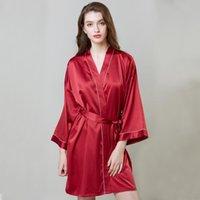 Women's Sleepwear Fdfklak Satin Silk Pajamas Women Lingerie Robes Underwear Sexy Sleep Lounge Wear M-XXL Plus Size Summer Homewear