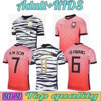 2021 Coréia Mens Soccer Jerseys Equipe Nacional U J I Kwon C Hwang H M Filho Casa Away Futebol Camisa De Manga Curta Uniformes